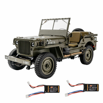 Coupone for Eachine Rochobby 1941 Willys MB 1/12 RC Car with Two Batteries RC Off-Road Crawler RTR RC Army Truck with LED Lights 2-Speed Gearshift and Remote Control