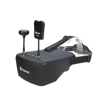 Coupone for $13 OFF for Eachine EV800D 5.8G 40CH Diversity FPV Goggles 5 Inch 800*480 Video Headset HD DVR Build in Battery
