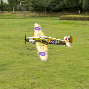 Coupone for Dancing Wings Hobby E28 Hurricane MK.1 420mm Wingspan Brushed Power Micro PP War Plane RC Airplane PNP with FrSky/Flysky/S-FHSS/DSMX/2 Receiver