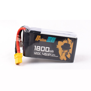 Coupone for Auline EX 14.8V 1800mAh 120C 4S LiPo Battery XT60 Plug for iFlight Green H Eachine Tyro109 5 Inch RC Drone
