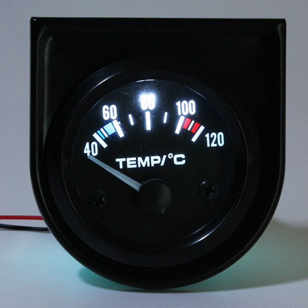 2Inch 52mm Universal Car Pointer Water Temperature Temp Gauge 40-120 White LED