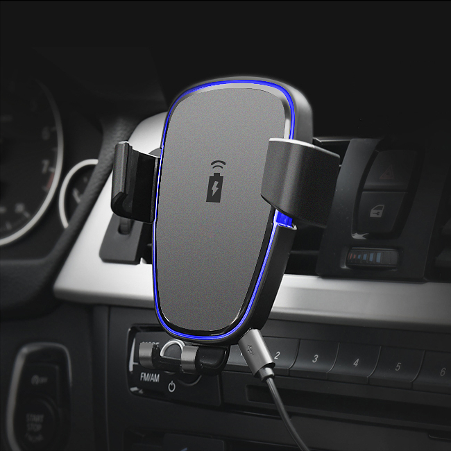 360 Degree Rotation Qi Car Air Vent Wireless Phon