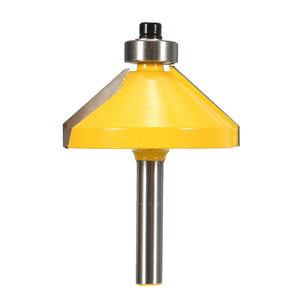 YH-KE Drill Shank 45 Degree Chamfer Router Bit Edge Forming Router Bit Woodworking Tool 1//4 Inch Drill Bits Tools