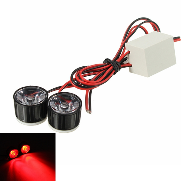 12V Motorcycle Taillight Scooter LED Strobe Light