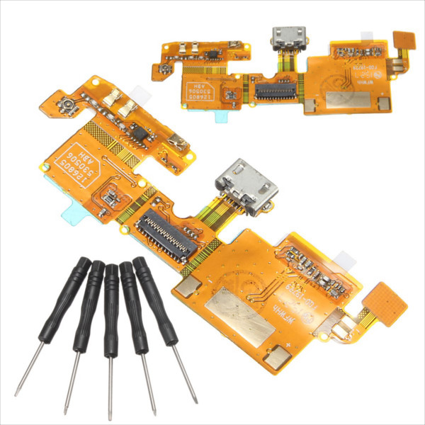 USB Charging Charger Port Connector Flex Cable Rib