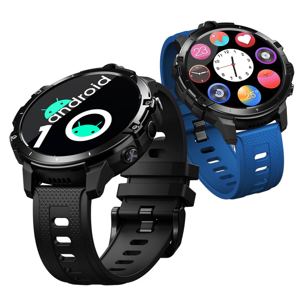[4G RAM+64G ROM] Zeblaze THOR 6 Phone Call The First Octa Core 4G Smart Watch with Android 10 OS Face Unlock WIFI GPS Long Standby 4G LTE Global Bands Watch Phone