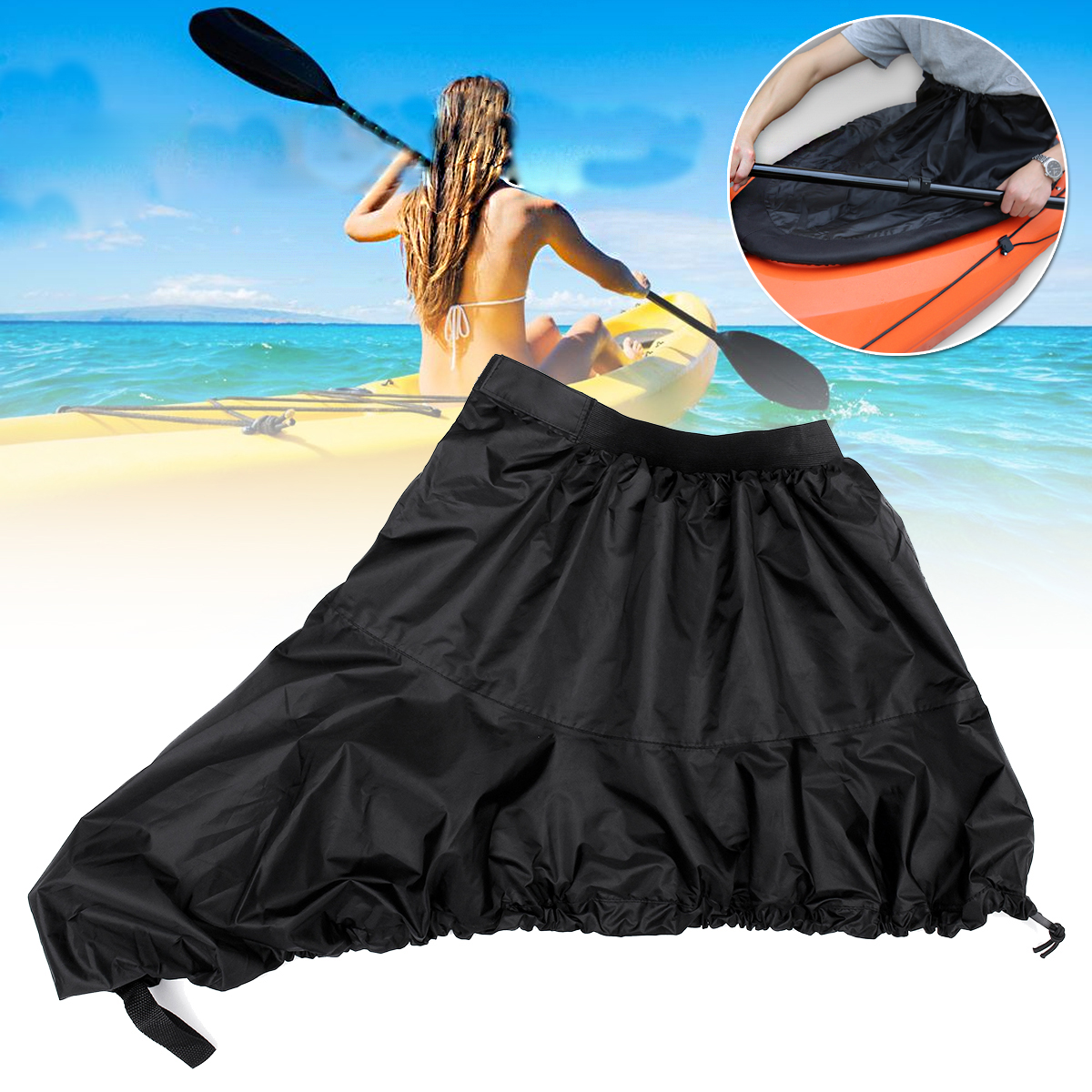 Kayak Spray Skirt Waterproof Cover Boat Canoe Cover Oxf