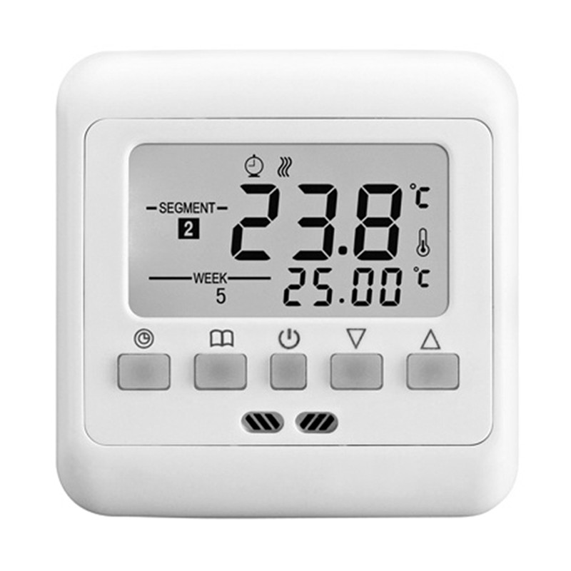 Digital Thermostat Weekly Programmable 16A 230V AC Wall Floor Thermostat With Sensor Cable Room Heat