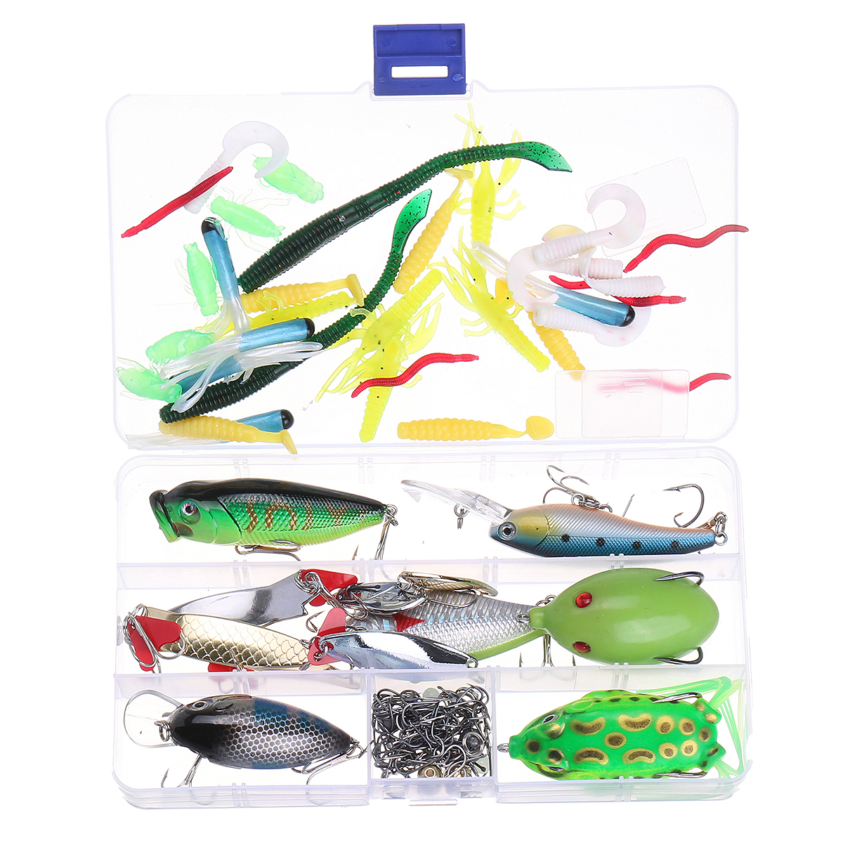 ZANLURE Fish Box Set Fishing Lure Crankbaits Hooks Minn