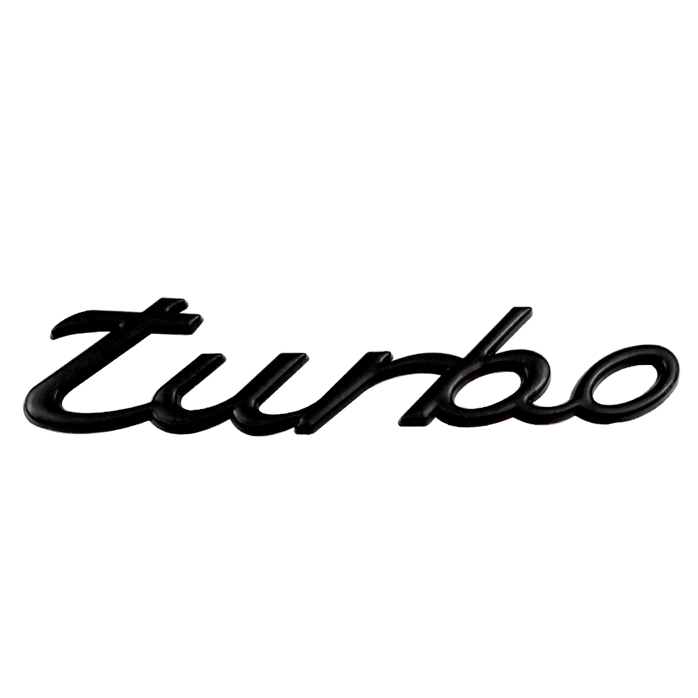 Exterior Accessories Metal Turbo Car Stickers For