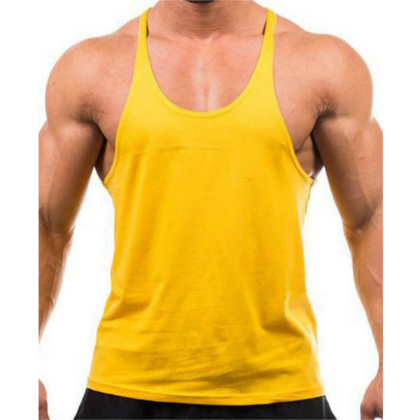 Men Summer Cotton Plain Gym Tank Top Sleeveless T-shirt Workout Bodybuilding Singlet