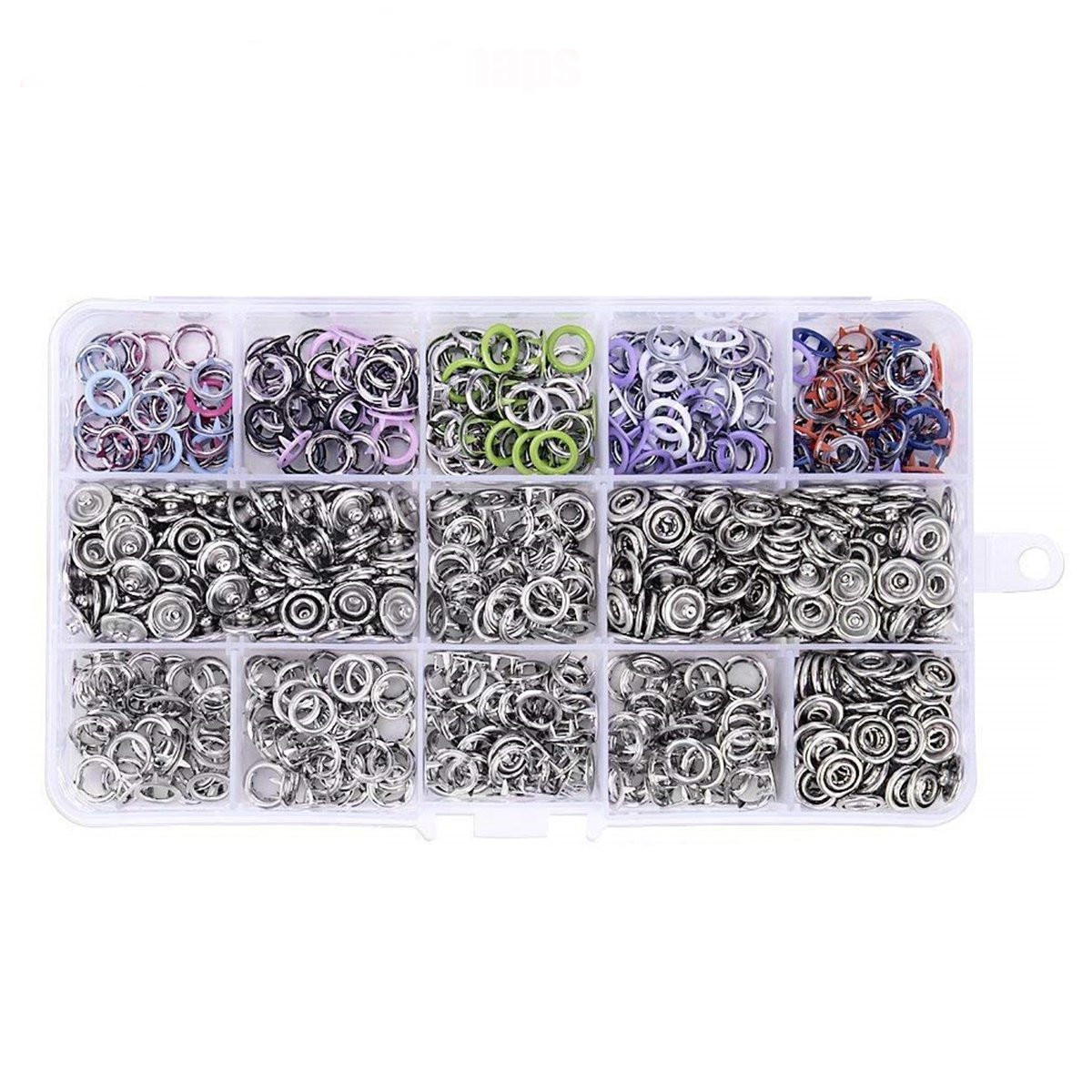 200 Set 9.5MM Prong Pliers Ring Press Studs Snap Popper Fasteners Clothes Button