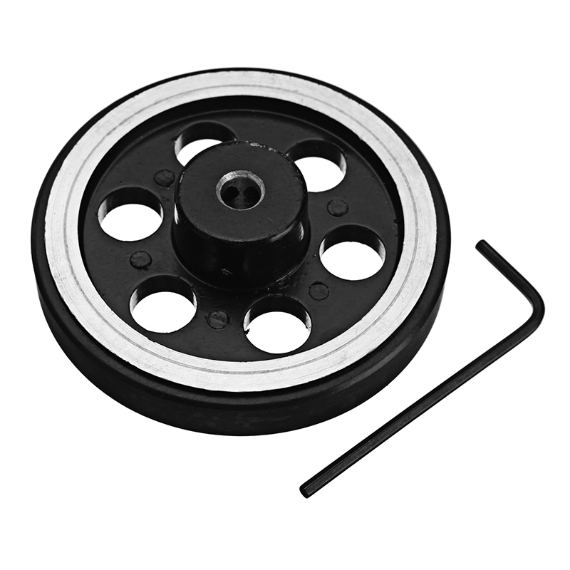 2Pcs 65mm 6mm Hole Diameter Metal Wheels for