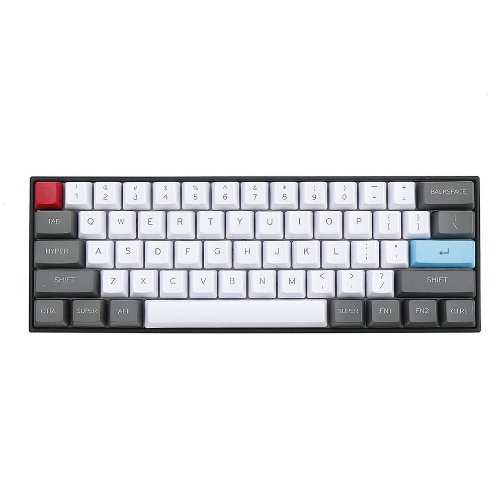 61 Key ANSI Layout OEM Profile PBT Thick Keycaps for 60