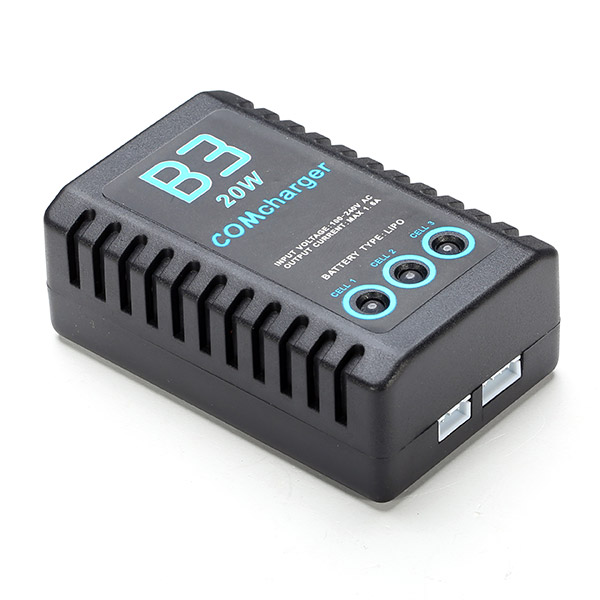 New B3 20W Balance Charger 2S-3S Lipo Battery Charger f