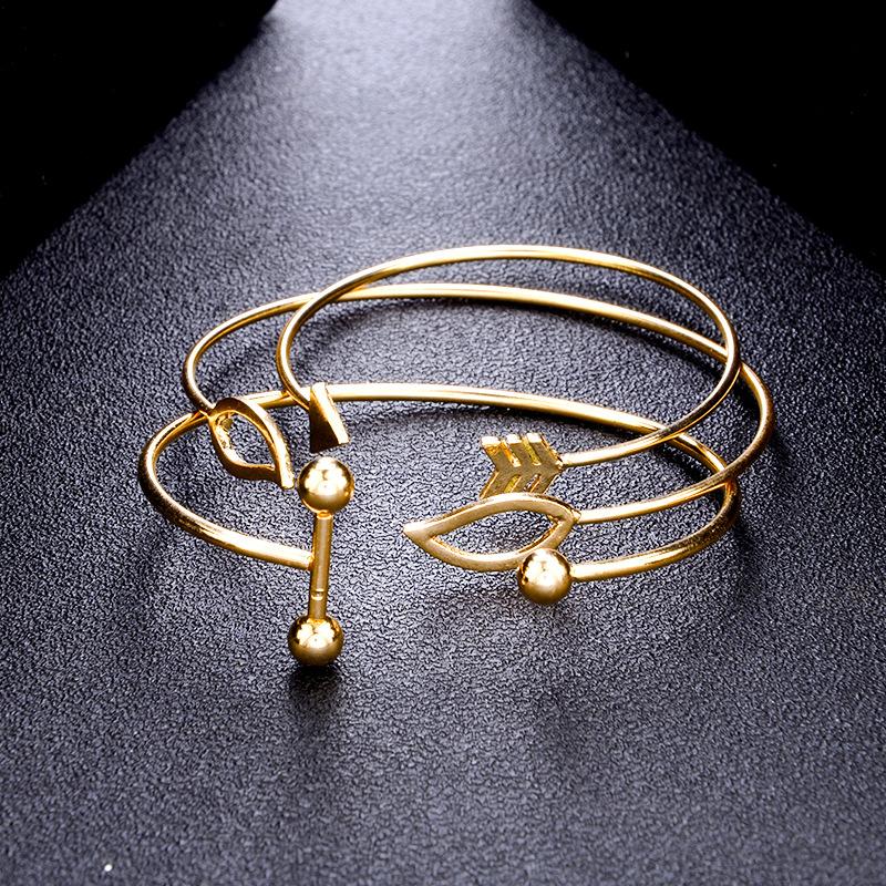 Sweet A Set Of Open Cuff Bracelet Trendy Minimalist Arr