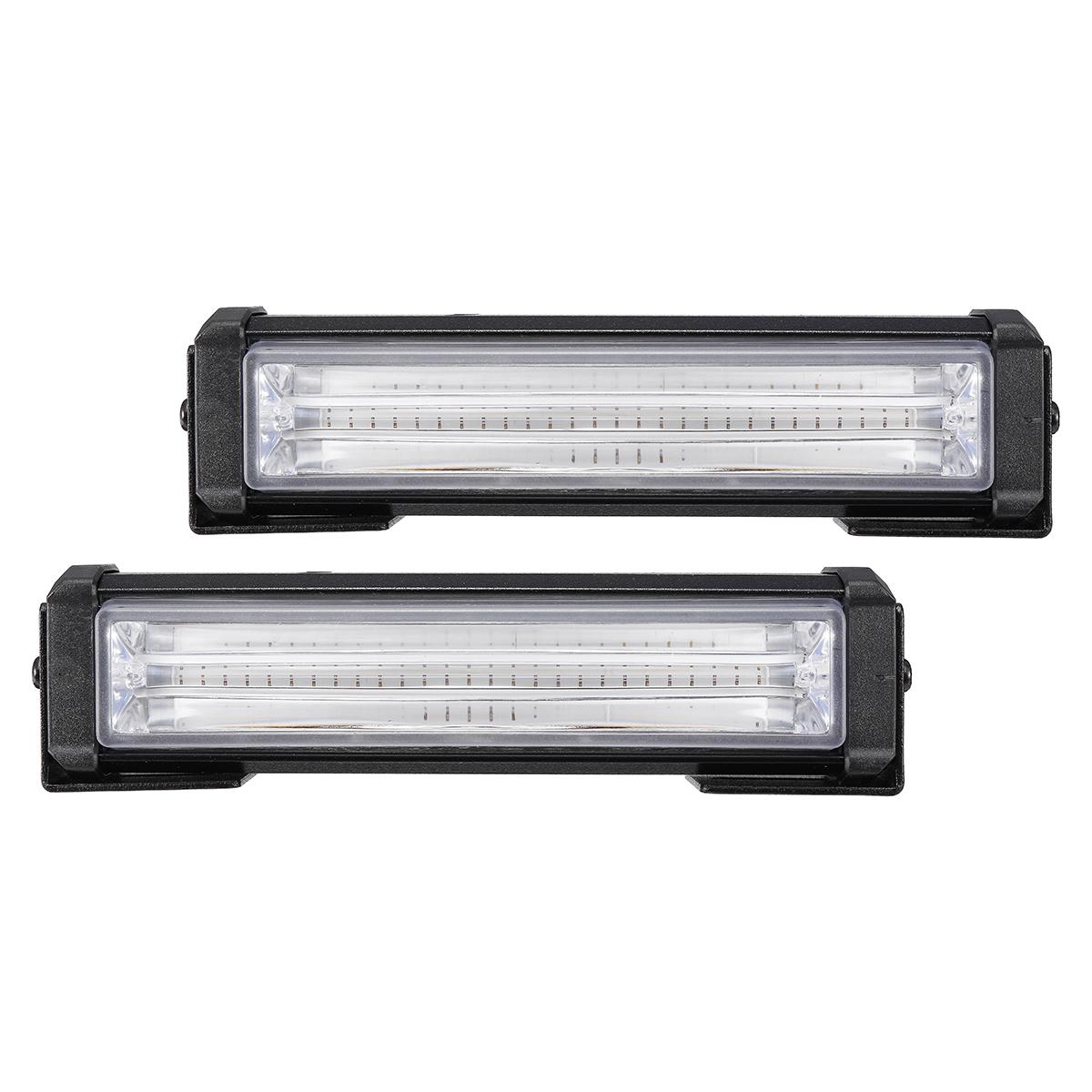2Pcs 40W Front Grille COB LED Emergency Light Flashing Warning Strobe Lamp 12-24V