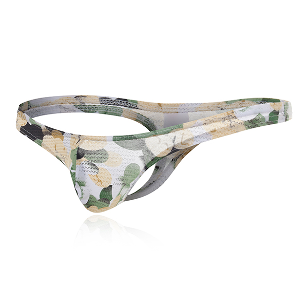 Mens Low Rise Printing U Convex Pouch Breathable Comfor