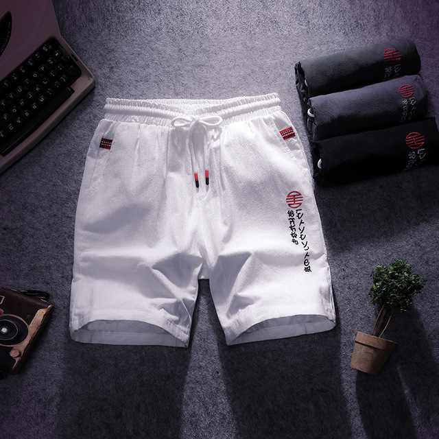 19 Season Chinese Style Men's Trousers Men's Casual Cotton And Linen Shorts Men's Five Pants Japanese Tide Beach Pants Pants