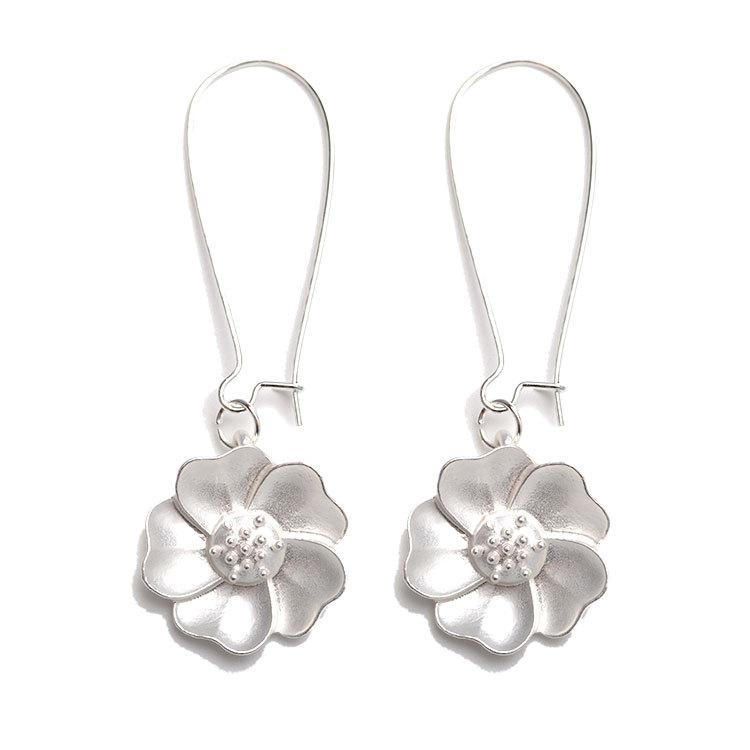 Fashion Jasmine Flower Drop Earrings Elegant Piercing E