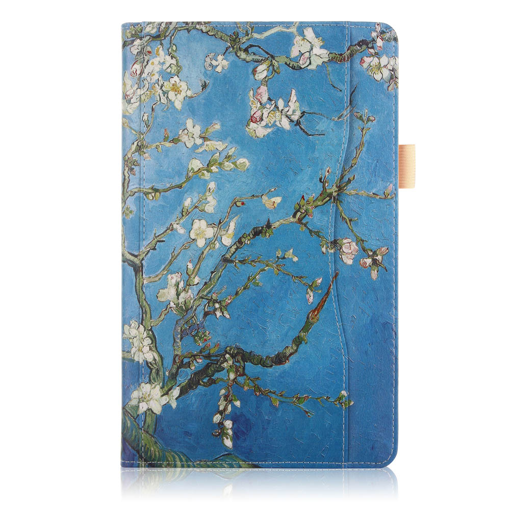 Folio Stand Printing Tablet Case Cover for Samsung Gala