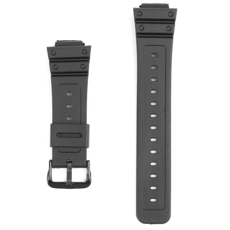 16mm Black Rubber Watch Band For CASIO G-Shock DW-6900