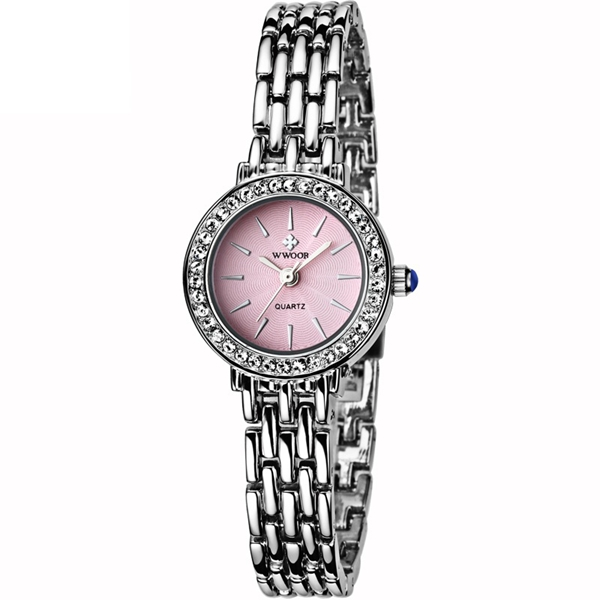 WWOOR 8810 Fashion Women Watch Elegant Rhinestones Dres