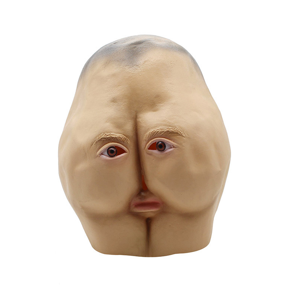 Latex Butt Head Mask Adult Ass Halloween Party Costume
