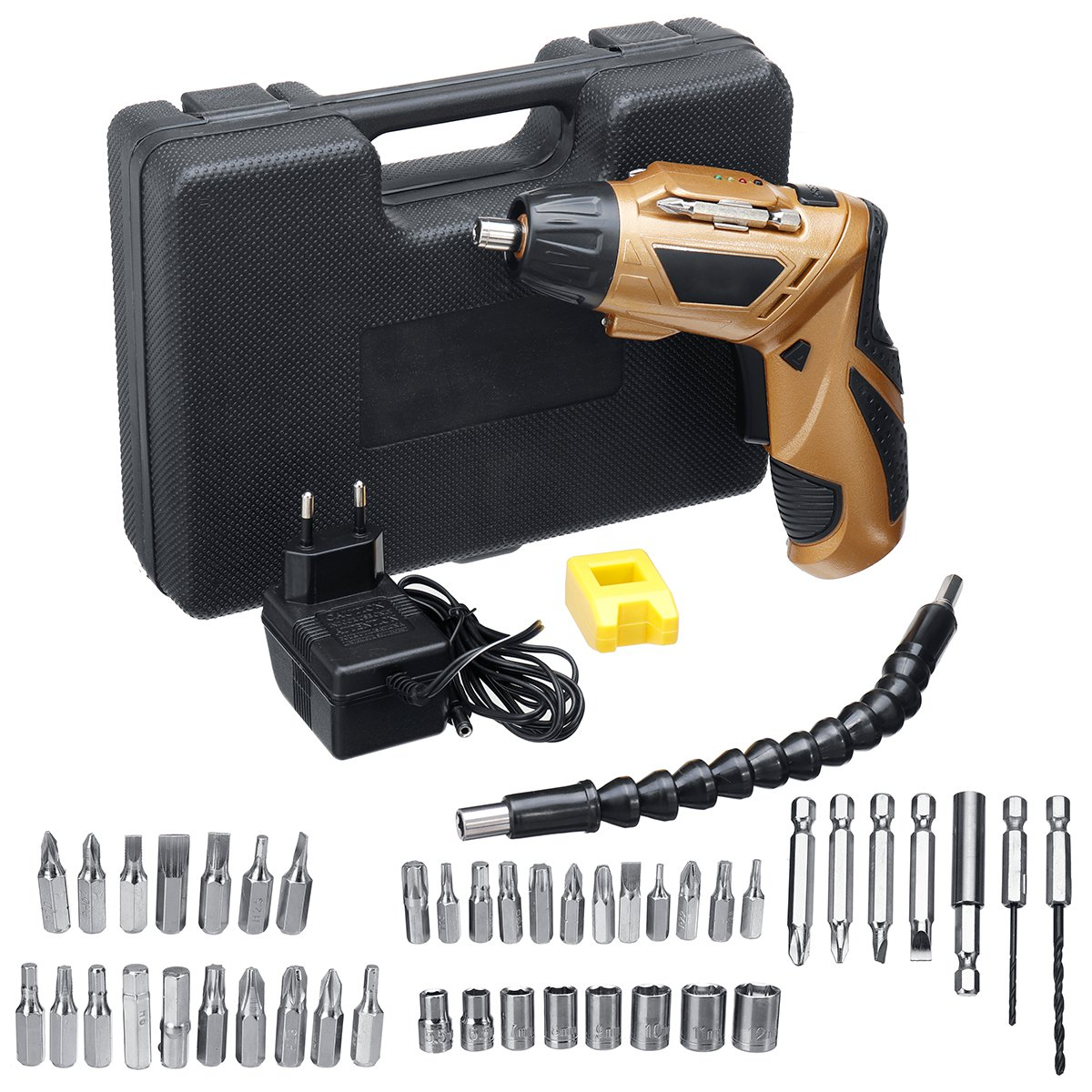45 IN 1 4.8V Electric Screwdriver Drill Kit Rechargeable Cordless Power Repairing Tools Set