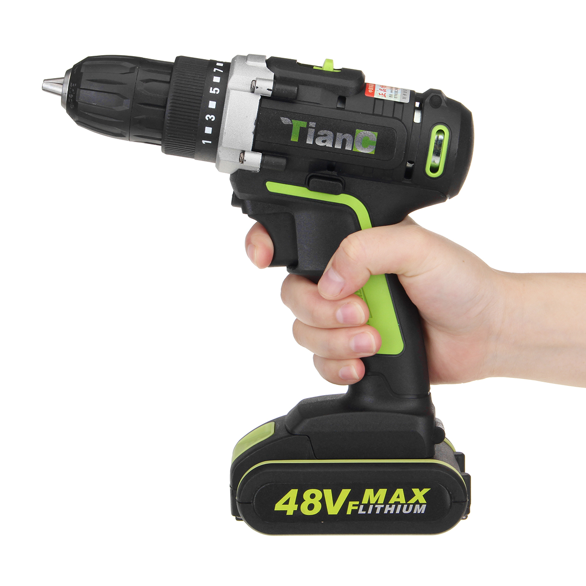 48V Electric Power Cordless Drill Screwdriver Woodworking Tool with 1/2pcs Rechargeable Batteries