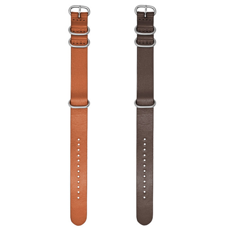 18/20/22mm Kraft Layer Leather Watch Strap Stainless St