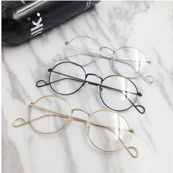 Men Women Vintage Round Circle Eyeglasses Clear Lens Casual Optical Glasses