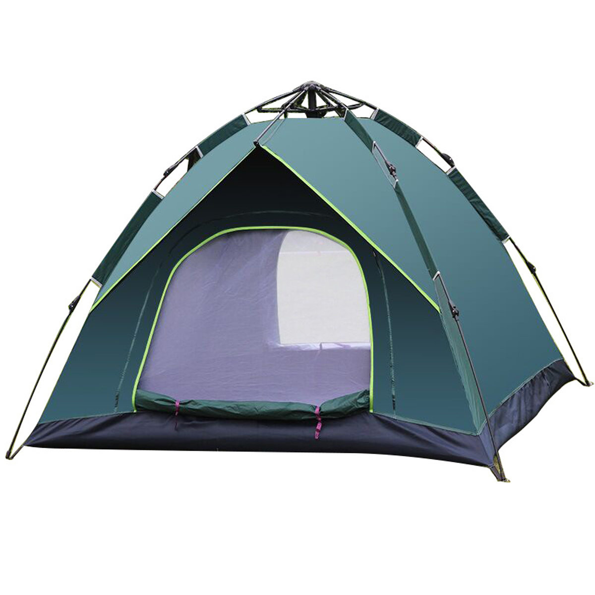 IPRee 3-4 People Waterproof Camping Tent 210T PU Fabric UV Protectionof Tent for Outdoor Travel Hiking