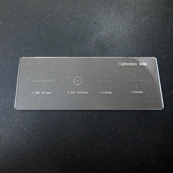 0.01mm Microscope Stage Micrometer Cross Dot Microscope Calibration Ruler Slides