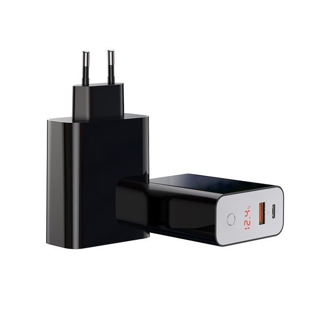 Baseus 45W Speed PPS Intelligent Power-off Digital Display Quick Charger PD3.0+QC3.0 Type-C+ USB Charger