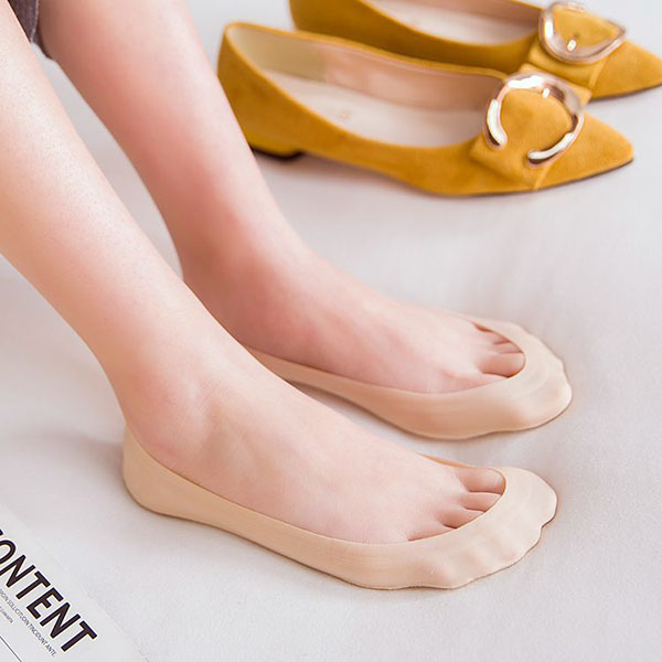 Women Ladies Summer Ice Silk Invisible Antiskid Boat So