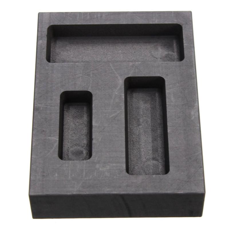 1/4 1/2 1 Oz Silver Graphite Ingot Bar Combo Mold Melti