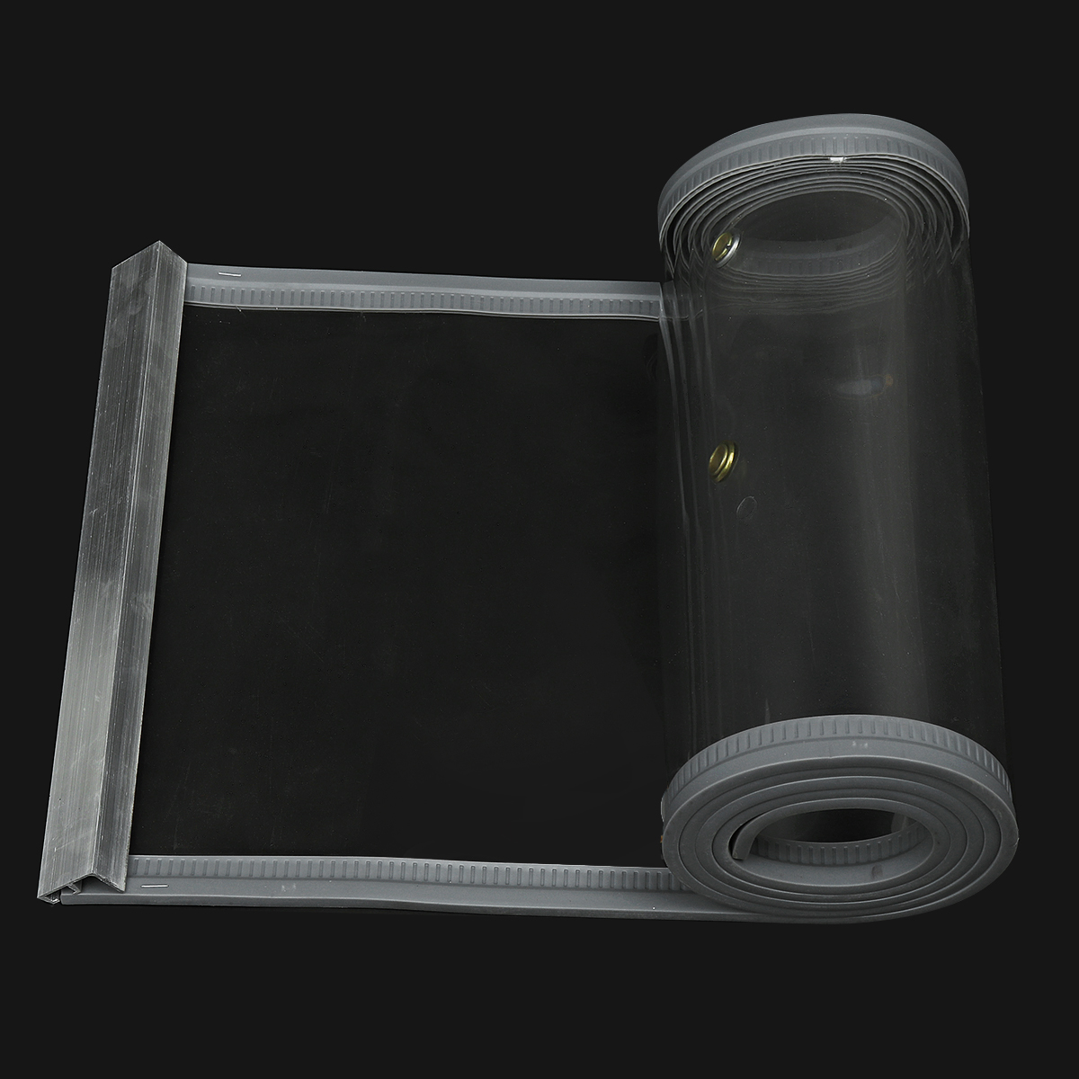 40cm*2-2.5m High Clear Flexible PVC Door Curtains Strip Magnetic Closing Fly Insect-resistant Screen
