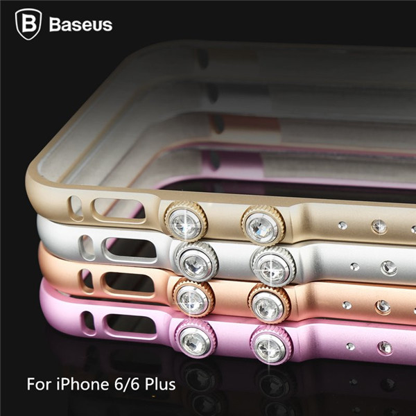 BASEUS Bling Metal Bumper For iPhone 6 6s 6 Plus &