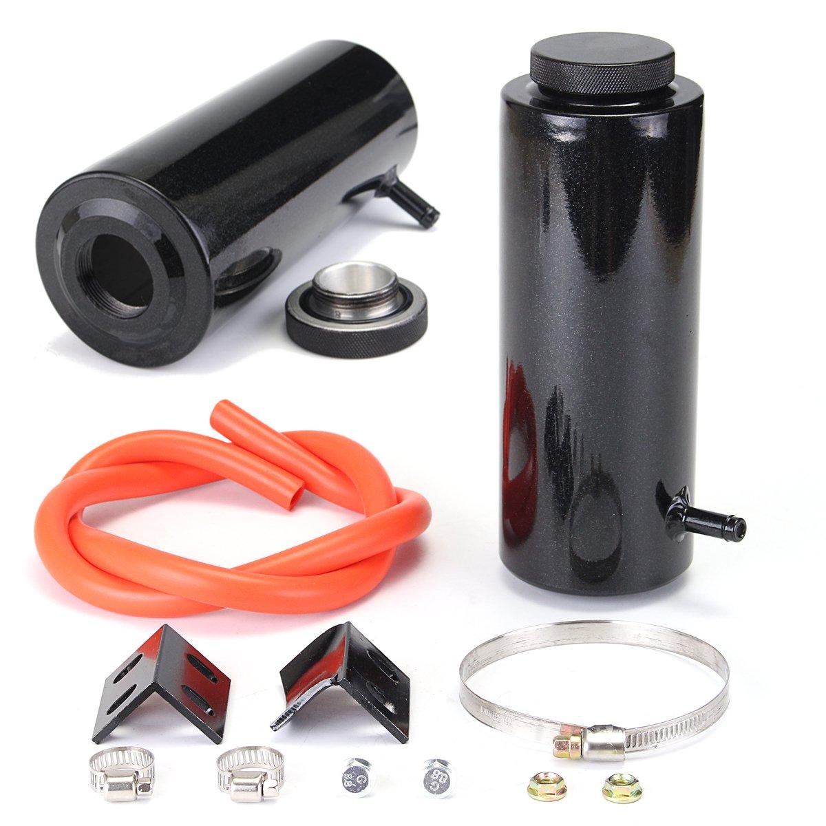 800ml Aluminum Alloy Black Universal Radiator Coolant C