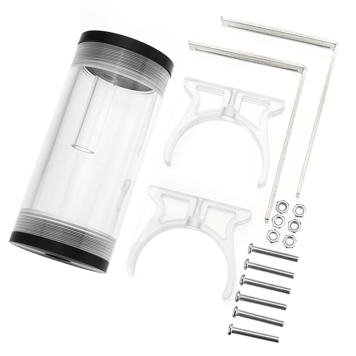 G1/4 50mmx110mm Cylinder Reservoir Water Cooling Tank F