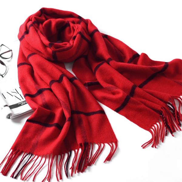 LYZA 200CM Winter Soft Warm Long Scarf Towel Elegant Fashion Large Grid Shawl Scarves For Women