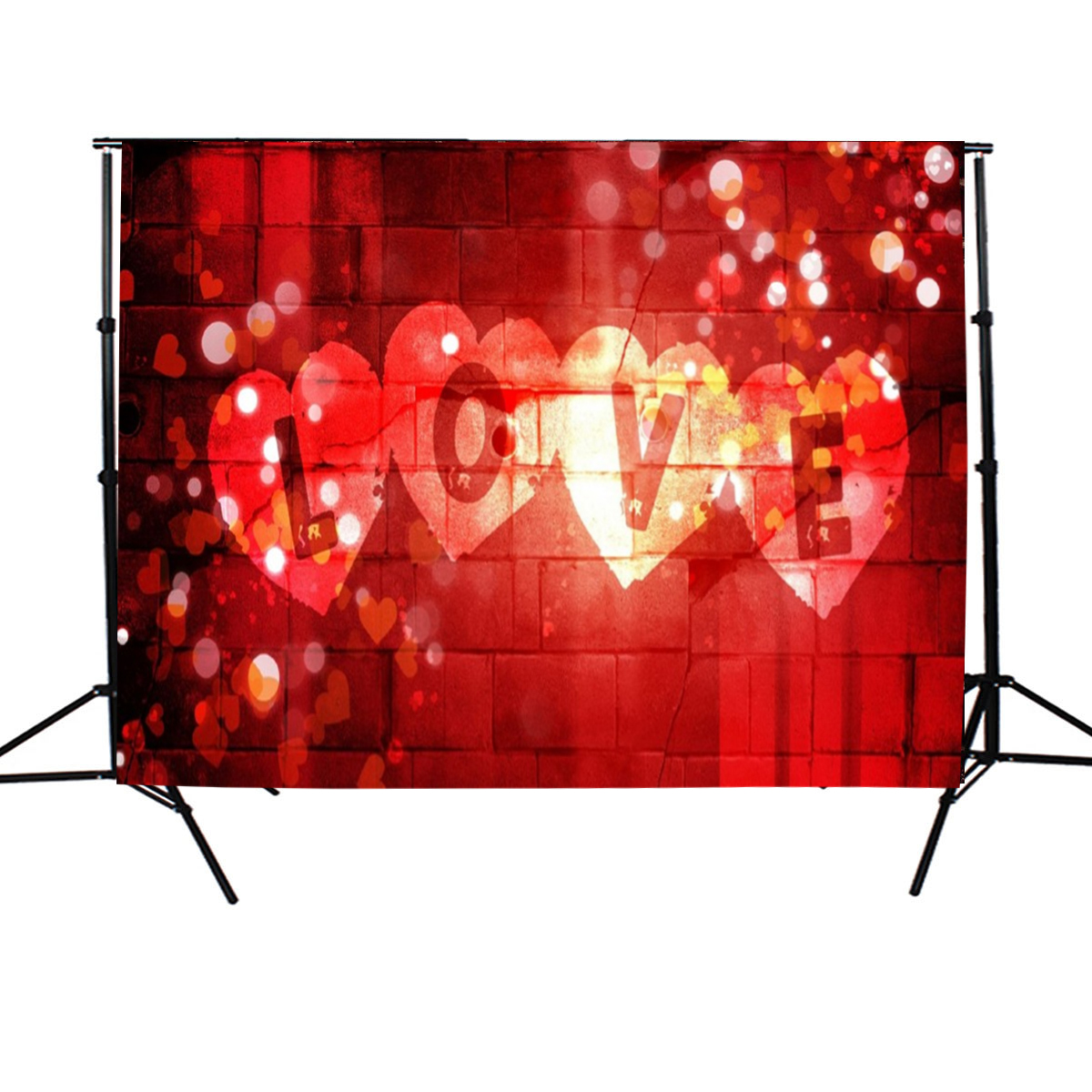 7x5FT Valentine's Day Love Hearts Photography