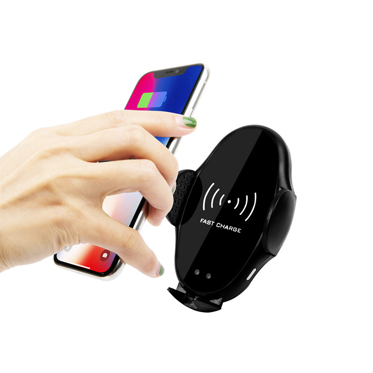 Car Qi Wireless Charger Infrared Sensor Auto Lock