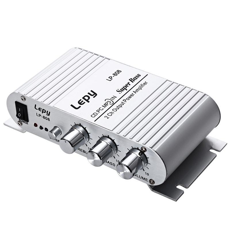 Lepy LP-808 12V MiNi Portable Wired HiFi Ampl