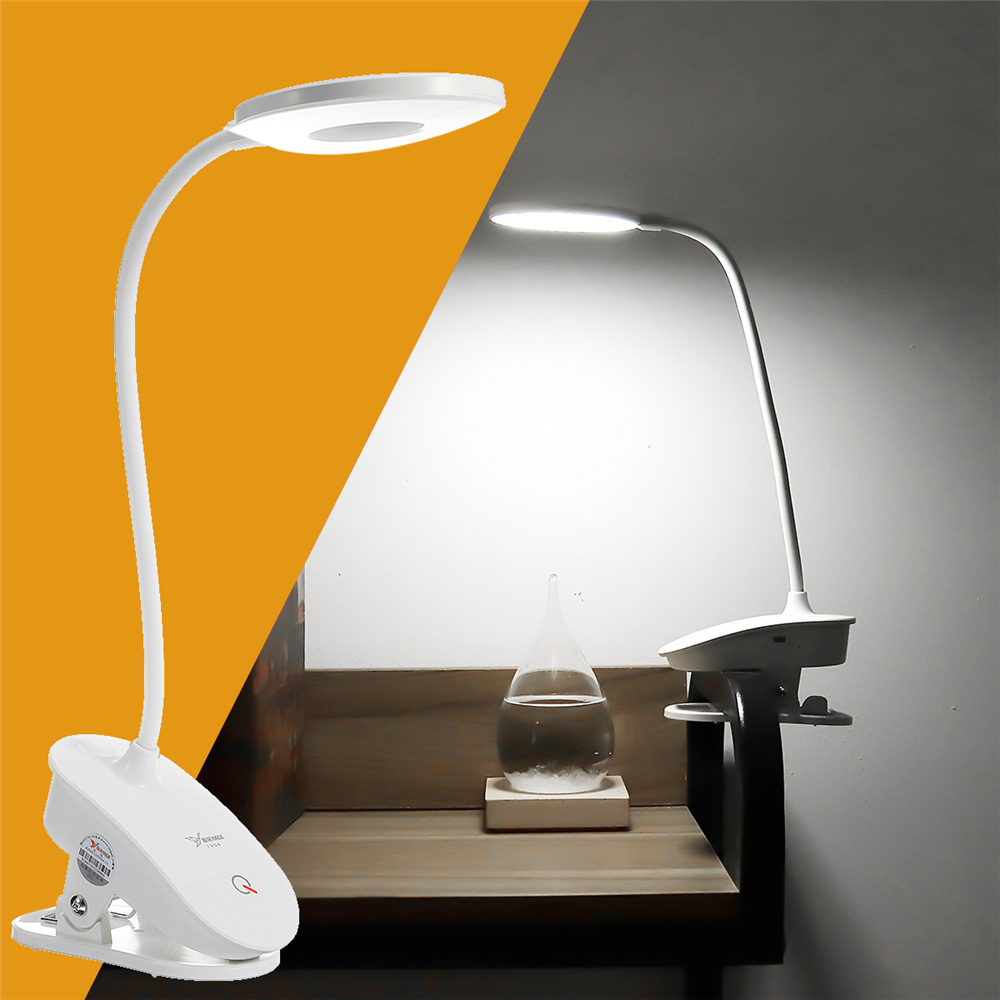 Bakeey USB Rechargeable Eye Protection LED Creative Clip Student Bedroom Learning to Touch Small Desk Lamp