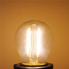 G45 E27 2W White/Warm White Non-Dimmable COB LED Filament Retro Edison Bulbs 220V