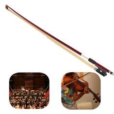 Professional 4/4 Black Handle Arbor White Copper Horsehair Violin Bow