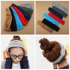 7 Colors Girls Hair Band Hairdressing Belt Wrap Head Scarf Headbrand