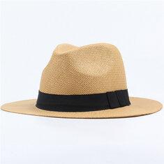1c92e56c Men Women Classic Beach Sun Wide Brim Panama Straw Hat